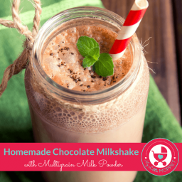Homemade Chocolate Milkshake with Multigrain Milk Powder