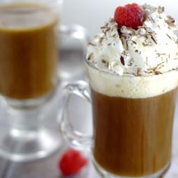 Homemade Chocolate Raspberry Coffee Creamer