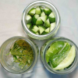 Homemade Dill Pickles with Jalapenos