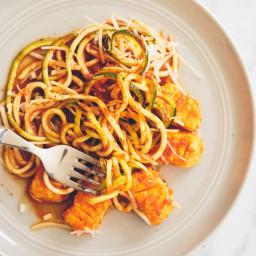 Homemade Gluten-Free Gnocchi with Pomodoro Zucchini Pasta