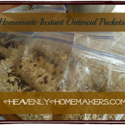 Homemade Instant Oatmeal Packets (without the microwave)