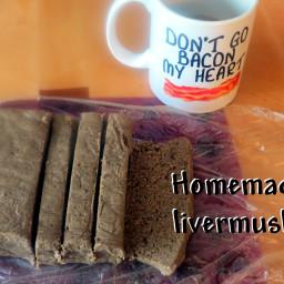 Homemade livermush!