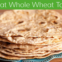 Homemade Low Fat Whole Wheat Tortilla Recipe
