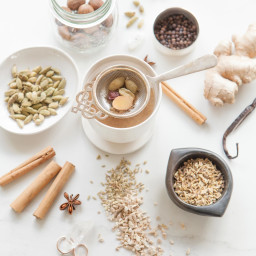 Homemade Masala Chai (dairy free, caffeine free)
