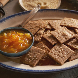 Homemade Orange Marmalade and Hand-Rolled Whole-Grain Crackers