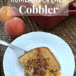 Homemade Peach Cobbler {with fresh peaches}