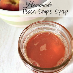 Homemade Peach Simple Syrup