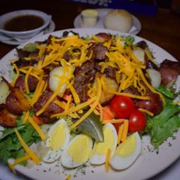 Homemade Pittsburgh/Chicken Steak Salad