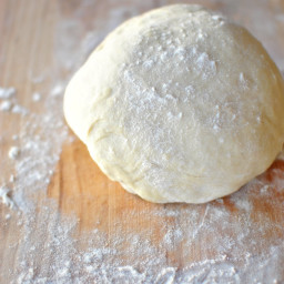 Homemade Pizza Dough from Scratch + Grilled Pizza