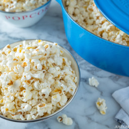 Homemade Popcorn with Truffle Salt