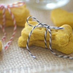 Homemade Pumpkin and Brown Rice Flour Dog Treats