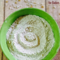 Homemade rice dal powder for babies