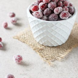 Homemade Spiced Sugared Cranberries
