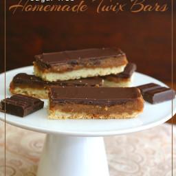 Homemade Sugar-Free Twix Bars