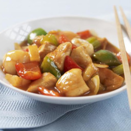 Homemade Sweet and Sour Chicken with Lemon