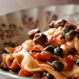 Homemade Tagliatelle alla Puttanesca
