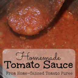 Homemade Tomato Sauce from Tomato Puree