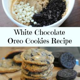 Homemade White Chocolate Chip and Oreo Chunk Cookies