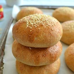 Homemade Whole-Wheat Hamburger Buns