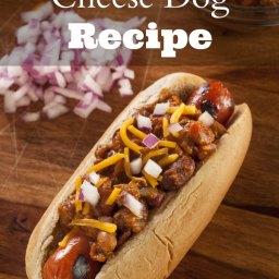 Homemade Chili Cheese Dog