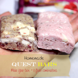 Homemade Quest-Inspired Bars - Cookie Dough flavor