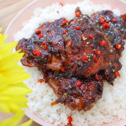 Honey and Coconut Caramelized Chicken