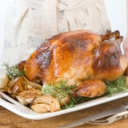 Honey and Rosemary Brined Turkey with Herb Riesling Gravy