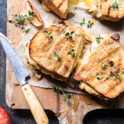 Honey Apple Cheddar and Bacon Panini.