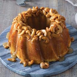 Honey Cashew Bundt Cake
