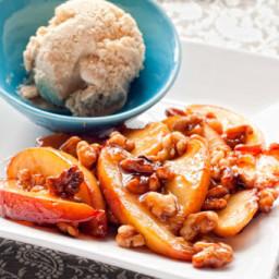 Honey-Coated Walnuts and Peaches Recipe