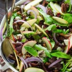 Honey Crisp Apple Salad with Cider Vinaigrette