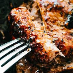 Honey Garlic Baked Pork Chops