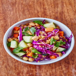 Honey-Garlic Chopped Chickpea Salad