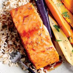 Honey-Ginger Glazed Salmon