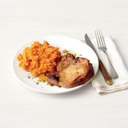 Honey-Glazed Pork Chops With Mashed Sweet Potatoes