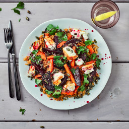 Honey-Kissed Rainbow Couscous With Feta