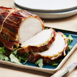 Honey-Mustard Pork Roast with Bacon