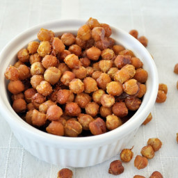 Honey Mustard Roasted Chickpeas