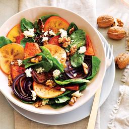 Honey-roasted pumpkin and persimmon salad