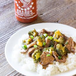 Honey Sriracha Beef and Broccoli Recipe