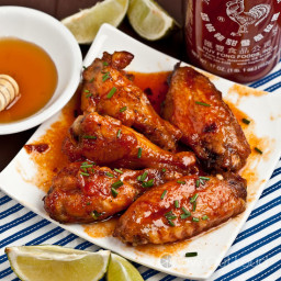 Honey-Sriracha Chicken Wings
