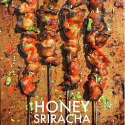 Honey Sriracha Grilled Bacon