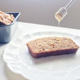 honey, walnut + flax banana bread [dairy-free]