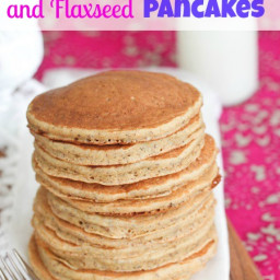 Honey, Wheat and Flaxseed Pancakes {Healthy}