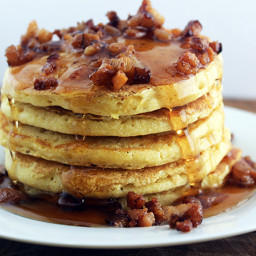 Honey Cornmeal Pancakes with Bacon