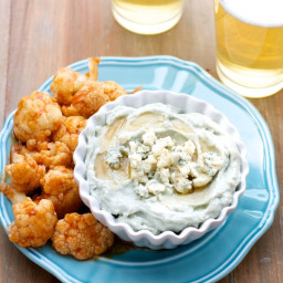 Honeyed Blue Cheese Dip with Spicy Cauliflower Wings
