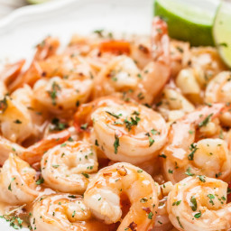 Honey Lime Shrimp with Sriracha