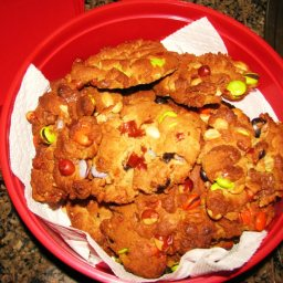 Hoo-haws (peanut butter cookies with, m&m's, reese's pieces and peanuts