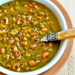 Hopping John Soup (Black-Eyed Pea, Ham, and Collard Greens Soup)