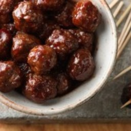 Hot and Saucy Cocktail Meatballs